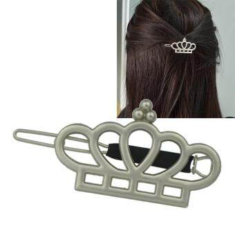 Harga Feeontop Latest Design Fashion Hair Jewelry Silver Alloy Hollow Crown Pattern Design Hairpins for Women - intl