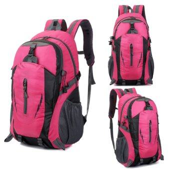 Harga New Outdoor Hiking Camping Waterproof Nylon Travel Luggage Rucksack Backpack Bag Red - Pink - intl
