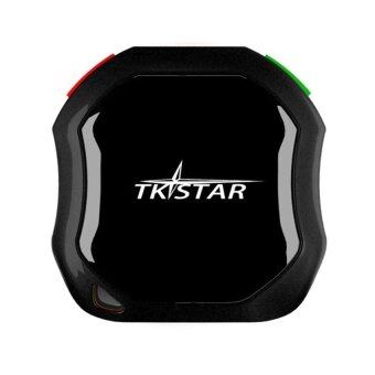 Harga Center TKSTAR Mini Waterproof Real Time GPS Tracker Car GSM AGPS Tracking System for Pets Dog Cat (Black)