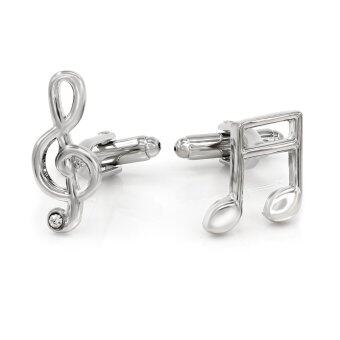 Harga Kemstone Musical Notation Cufflinks Asymmetric Musician Jewelry - intl