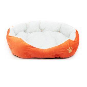 Harga Fashion Small Medium Pet Dog Puppy Cat Soft Fleece Cozy Warm Nest Bed House Cotton Mat