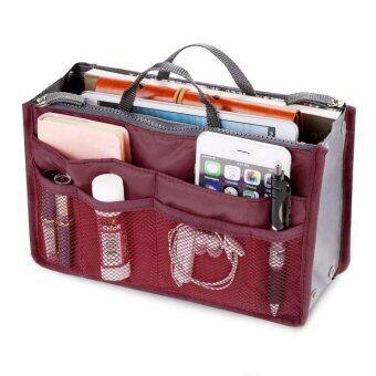 Harga PAlight Cosmetic Pouch Organizer Storage bag (Wine Red)