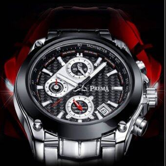 Harga 'PREMA Men''s Sports Six-pin Multifunction Waterproof Strip Quartz Watch(Color:Black)'