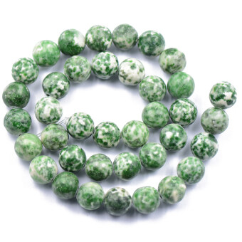 Harga BolehDeals 10 mm Round China Qinghai Green Dot Jade Gemstone Loose Beads Strand 15 inch