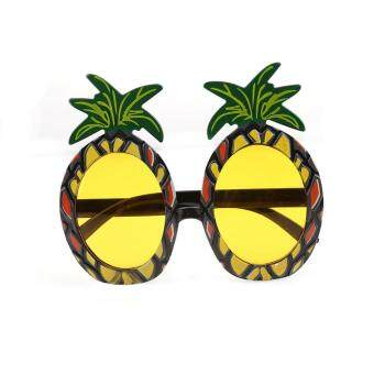 Harga LALANG Pineapple Sunglasses Glasses for Hawaiian Beach Party Fancy Costume (Yellow) - intl