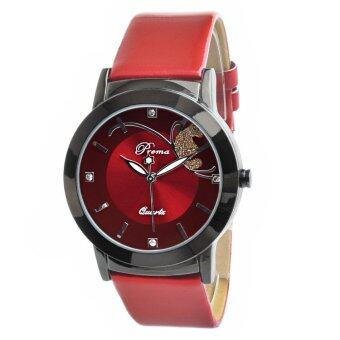 Harga Hot Selling Popular Premium Butterfly Fashion Quartz Watch- Red