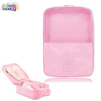 Harga TravelGear24 กระเป๋ารองเท้า กระเป๋าใส่รองเท้า Shoes Pouch Portable Shoes Organizer Shoes Bag (Pink/ชมพู)