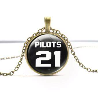 Harga Hequ Twenty One Pilots 4 Music Band Necklace fashion Jewelry twenty one pilots fans Pendant chain man - intl