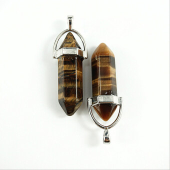 Harga Amango Women Pendant Bead Gemstone Rock Crystal Tiger Eye