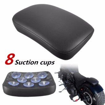 Harga 8 Suction Cup Black Pillion Rectangular Pad Seat For Harley Cruiser Custom - intl