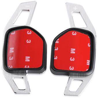 Harga 2pcs/set Steering Wheel DSG Paddle Extension Shifters Shift Sticker Decoration for AUDI A3 A4 A5 A6 A8 Q5 Q7 TT(Silver) - intl