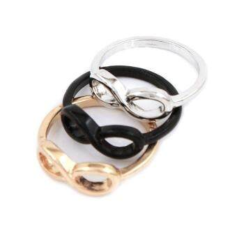 Harga BUYINCOINS Fashion Punk Rock Simple Metal Infinite Infinity Sign Bowknot Bow Finger Ring Gold - intl