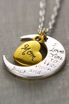 "Harga Jetting Buy Necklace Charm Pendant ""I LOVE YOU "" Mom"