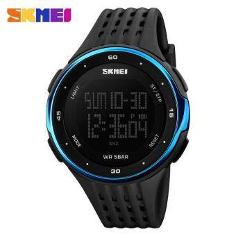 Harga Men's LED Digital Sports Watches Shock Resist Mens Wristwatches SKMEI 1219 Watch (Blue) - intl