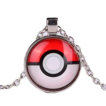 Harga Hequ Hot Sale Pokemon Cartoon Elves Alloy Necklace Cacho Time Gemstone Necklace Silver - intl