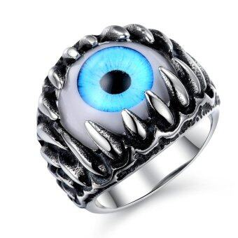 Harga Men's Gemstone Ring Rock Retro Punk Domineering jewelry(Intl)