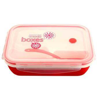 Harga Kids Soup Bowl Spoon Food Picnic Container Lunch Bento Box Microwave Tableware (Pink)