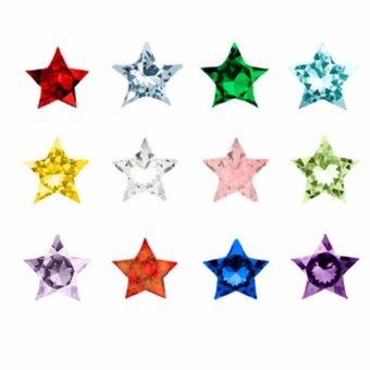 Harga Hequ mixed color round heart star crystal charms for Floating Locket or vial pendants pack birthday - intl