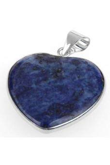 Harga Generic Heart Lapis Lazuli Gemstone Gem Necklace Pendant 1.22Γ?? HOT