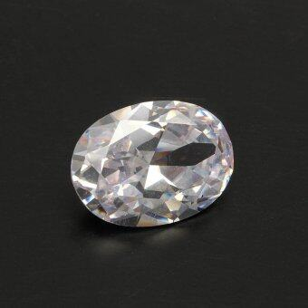 Harga 1pcs Huge 50.40ct 18X25mm White Sapphire Oval Shape Loose Gemstone HOT - intl