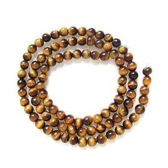 Harga Tiger Eye Round Gemstone Loose Beads Strand 4mm / 15.5 Inch