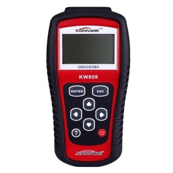 Harga New KW808 Car Diagnostic Scanner Code Reader CAN OBD2 EOBD Scan Tool Red - intl