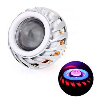 Harga Motorcycle Projector LED Headlight Hi/Lo Beam Kit with Angel Eyes+Devil Eyes - intl