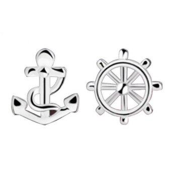 Harga Silver-plated Earrings Anchors And Rudder Women Accessories - intl