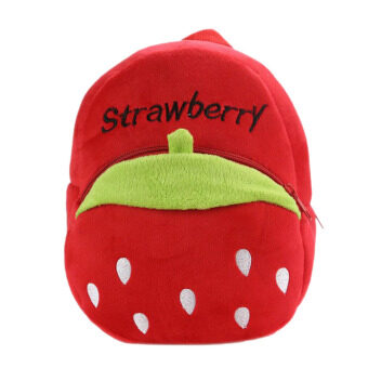 Harga Cartoon Fruit Pattern Kids Child Small Soft Plush Schoolbag School Bag Backpack Red Strawberry