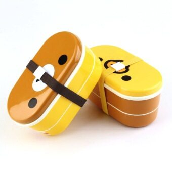 Harga XIYOYO Lovely High Heat Resistance Double Layers Chopsticks Plasticbento Lunch Box - intl