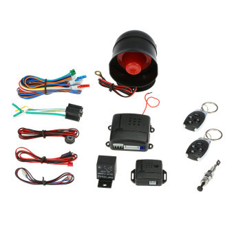Harga Universal Car Vehicle Security System Burglar Alarm Protection Anti-theft System 2 Remote