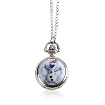 Harga Frozen Character Classic Fashion Quartz Pocket Watch Necklace Kids Gift 6