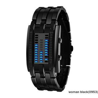 Harga SKMEI 2017 popular Brand Men fashion creative Watches digital LED display 30M waterproof lover's Wristwatches quality alloy band - intl