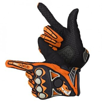 Justgogo 1 Pair Motorcycle Protective Gloves Orange XL
