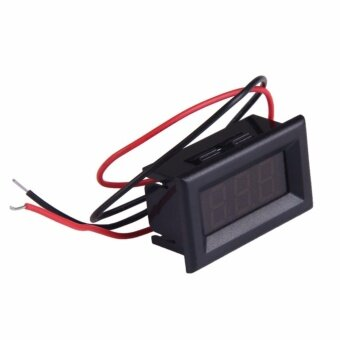 Mini Two Wires Digital Voltmeter Red LED Display DC2.5-30V VoltageMeter - intl