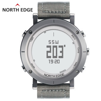 NORTHEDGE Digital Watches Men Watch with Heart rate monitor Compass Altimeter Barometer Thermometer Altitude for Climbing Hiking Fishing Running Outdoor sports waterproof / Black screen
