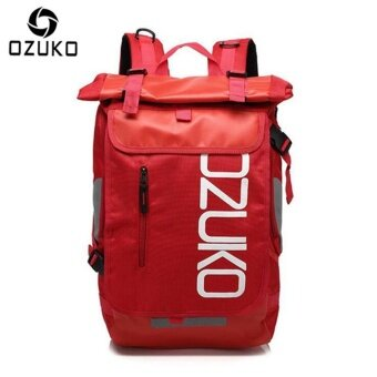 OZUKO Waterproof Oxford 15-inch Laptop Backpack Large CapacityBusiness Backpack Casual Travel Bag Fashion School Bag OutdoorSport Bag - intl