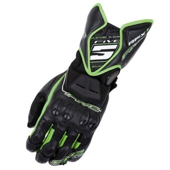 Racer Gloves Motorcycle Gloves Gloves Warmest Gloves Knight Equipment Black Green (Black & Green) - intl
