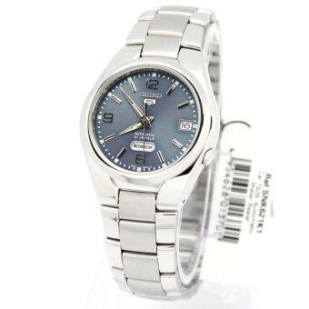 Seiko Watch 5 Automatic Silver Stainless-Steel Case Stainless-Steel Bracelet Mens NWT + Warranty SNK621K1