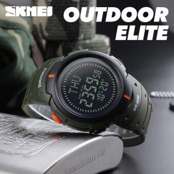 SKMEI 1231 Outdoor Man Sports Compass Watches Hiking Digital LED Electronic Watch - Green