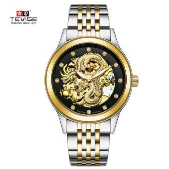 TEVISE Dragon Dial Luxury Men Mechanical Watch Business Top BrandMens Male Famous Watches Gift For Men