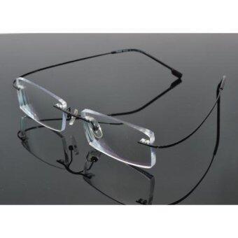 c20b5f054fa Titanium Alloy Hingeless Rimless Reading Glasses Ultra light UV400 Anti- fatigue Lenses +1.50