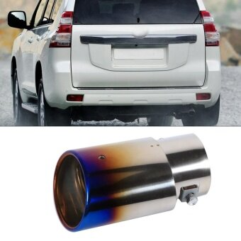 Universal Car Exhaust Tail Muffler Tip Pipe Chrome Colourful RoundStainless Steel For 1.8-2.2T - intl