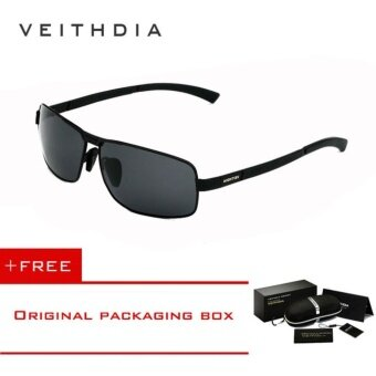 VEITHDIA Mens Sunglasses Polarized Lens Driver Glasses Driving Fishing Sunglass Eyewear Accessories For Men 2490 (Black) [ Buy 1 Get 1 Freebie ] - intl