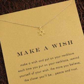 YingWei Tiny Elegant Small Hexagram Cute Clavicle Short Necklace Present Golden
