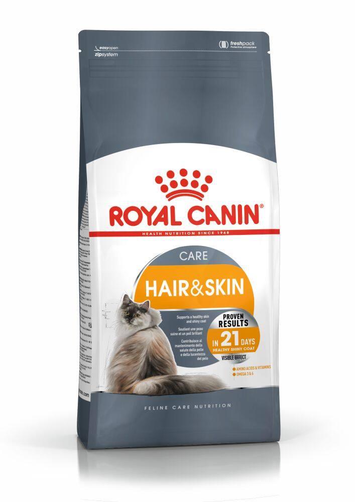 Royal Canin Hair & Skin 4kg. - โรยัล คานิน อาหารเม็ด แมว บำรุงขน และผิวหนัง ขนาด 4 กิโลกรัม.