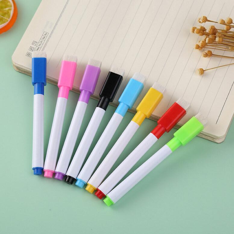 ปากกาไวท์บอร์ดแม่เหล็ก 8สีสวย ชนิดหัวกลม หัวปากกาแข็งแรง ไม่แตกยุ่ยง่าย เขียนลื่น ลายเส้นคมชัด น้ำหมึกสูตรเอทิลแอลกอฮอล์ แห้งไว.