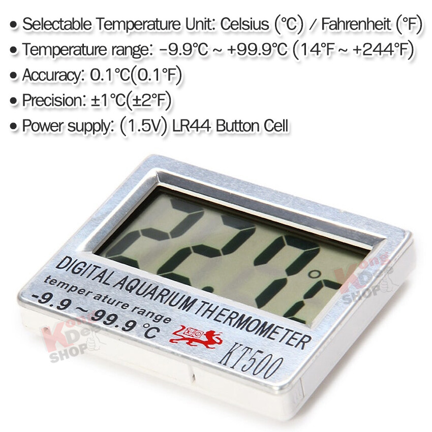 LCD Fish Tank Wireless Sensor Out Aquarium Thermometer Temperature KT-500 ที่วัดอุณหภูมิ Thermometer ตู้ปลา บ่อปลา เครื่องวัดอุณหภูมิในตู้ปลา เครื่องวัดอุณหภูมิ ตู้ปลา