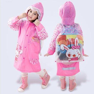 ชุดกันฝนเด็กชายและเด็กหญิงลายการ์ตูนมีหมวกคลุมหัว