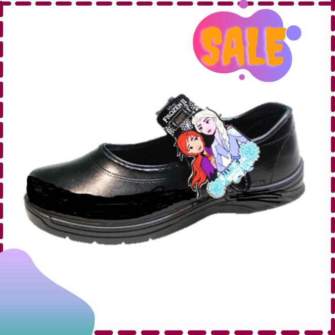 ?SALE?เอลซ่า รองเท้านักเรียน รองเท้าเด็กผู้หญิง รองเท้าผ้าใบ CHAPPY ดำ/ขาว
